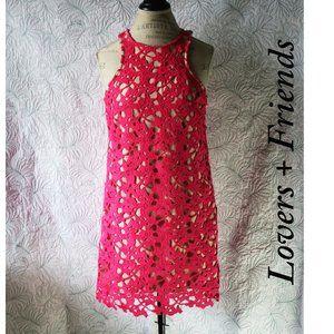 Lovers + Friends Pink Floral Flirty Dress M